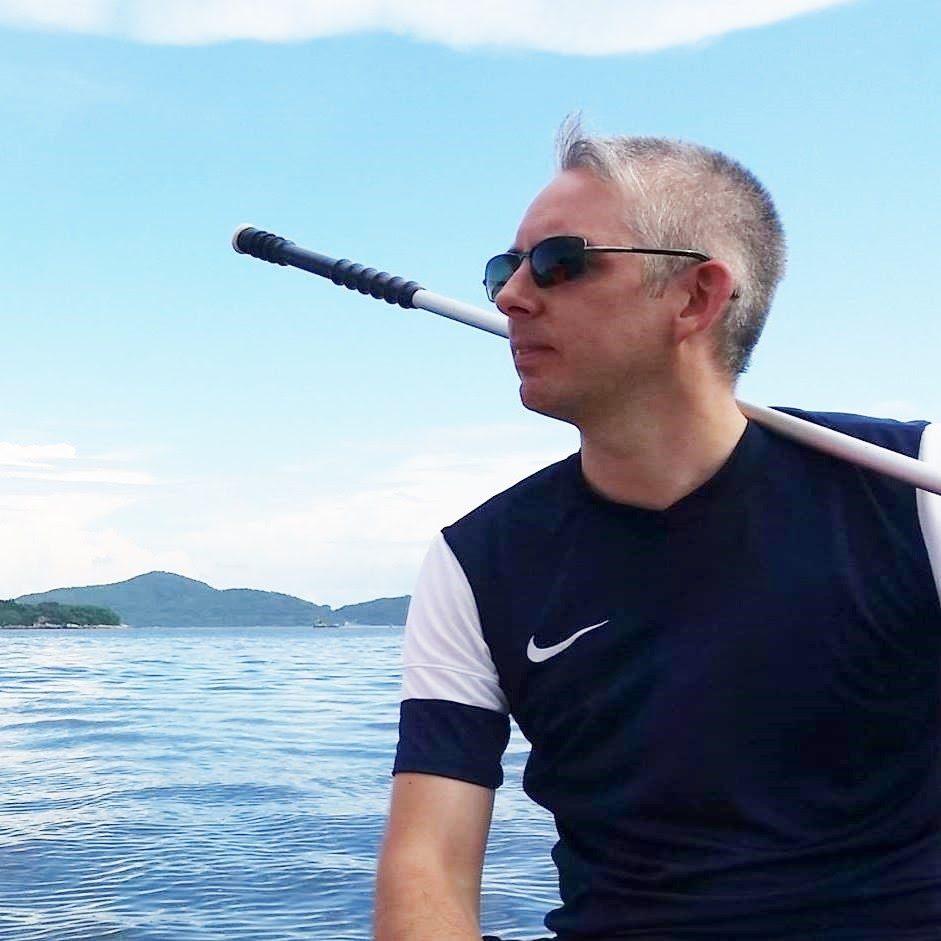 Chris on boat